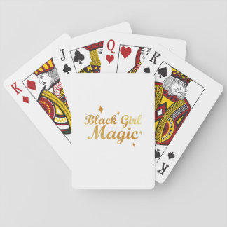 Black Girl Magic African Queen Strong Woman Playing Cards