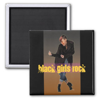 Black Girls Rock Square Magnet