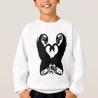 Black Girly Swans Sweatshirt