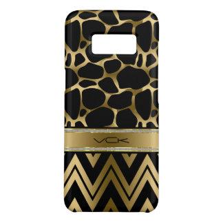 Black & Glam Gold Leopard Print & Chevron Case-Mate Samsung Galaxy S8 Case