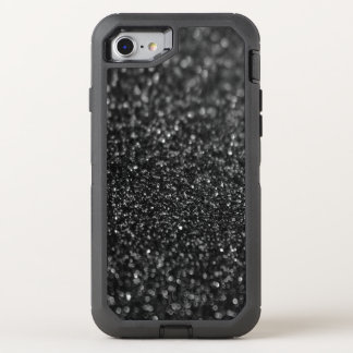 Black Glitter Glamour OtterBox Defender iPhone 8/7 Case