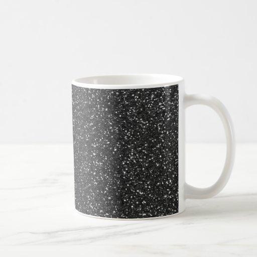Black Glitter Coffee Mugs