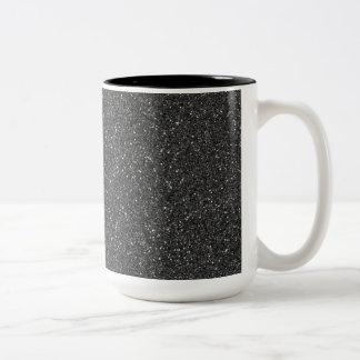 Black Glitter Mugs