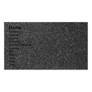 Black Glitter Pack Of Standard Business Cards