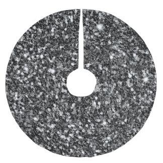 Black Glitter Pattern Brushed Polyester Tree Skirt