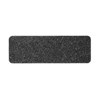 Black Glitter Return Address Label
