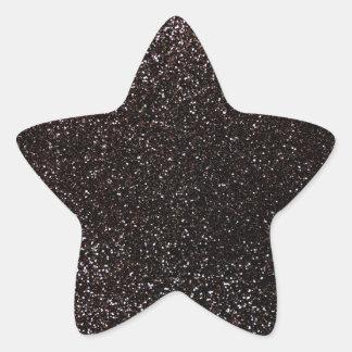 Black glitter star stickers