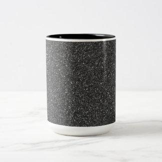 Black Glitter Two-Tone Mug