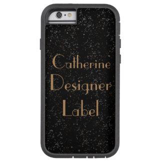 Black Glitz!!! Designer Label Phone case
