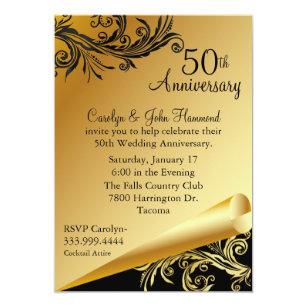 Golden anniversary party wedding invitations zazzle stopboris Images