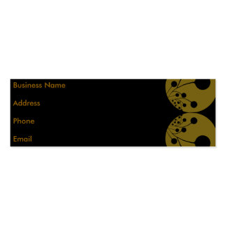 Black & Gold Abstract Business Card