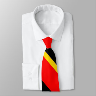 Black Gold and Red Broad University Stripe Tie