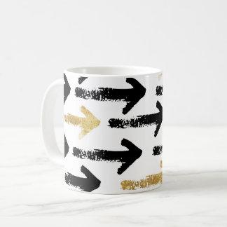 Black & Gold Arrow Mug