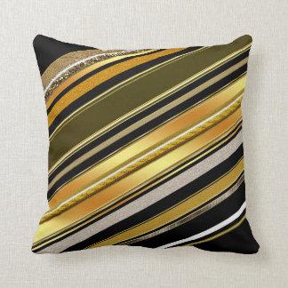 Black Gold Art Deco Style Cushion Pillow