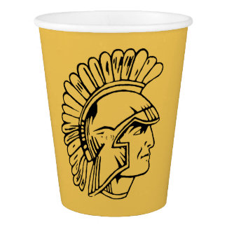 Black Gold Art Deco Trojan Class Reunion Paper Cup