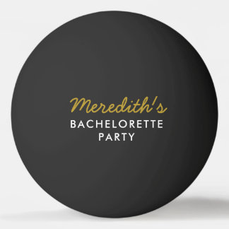 Black Gold Bachelorette Beer Pong Ball w/ Hashtag