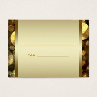 Black Gold Bar Bat Mitzvah Reception Table Cards