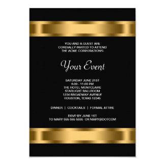 Black Gold Black Corporate Party Event Card