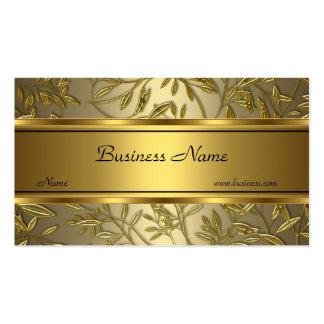 Black Gold Bronze Floral Elegant Business Card