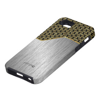 Black & Gold Brushed Aluminum Look iPhone 5 Covers