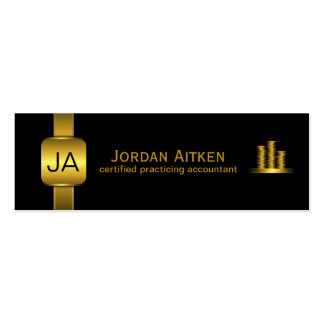 Black Gold Coins Small Accountant Business Cards Business Cards