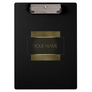 Black Gold Conceptual Minimal Name Geometry Clipboard