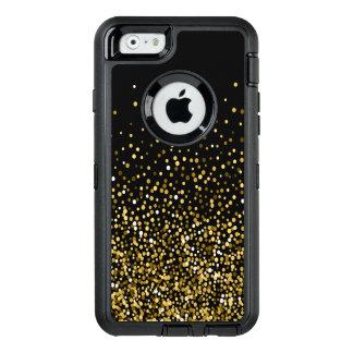 Black & Gold Confetti Design OtterBox Defender iPhone Case
