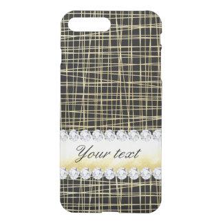 Black Gold Criss Cross Lines and Diamonds iPhone 8 Plus/7 Plus Case