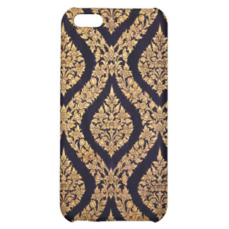 Black Gold Damask Traditional Contemporary Print iPhone 5C Covers
