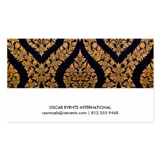 Black & Gold Damask Traditional Contemporary Print Pack Of Standard Business Cards