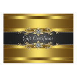 Black Gold Diamond Gold Business Gift Certficate Pack Of Chubby Business Cards