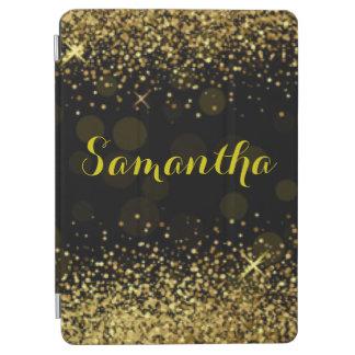 Black Gold Diamonds Typography iPad Air Cover