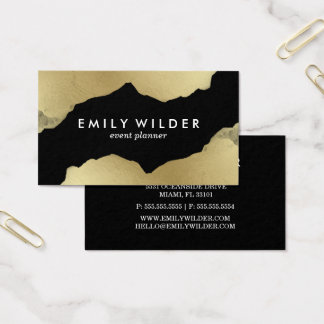 Black Gold Dipped | Business Card