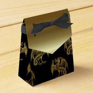 Black gold Dragon pattern party favor box