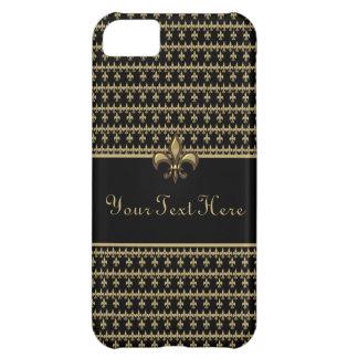 Black Gold Fleur de Lis iPhone 5C Case