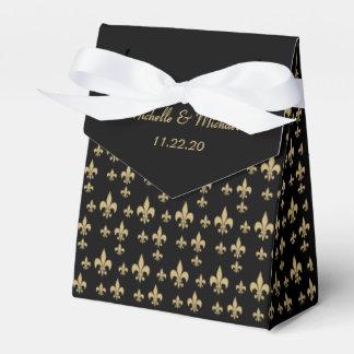 Black Gold Fleur de Lis Favor Boxes