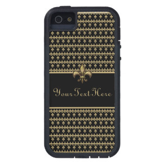 Black Gold Fleur de Lis iPhone 5 Cover