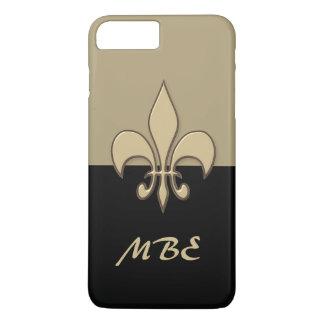 Black Gold Fleur de Lis iPhone 7 Plus Case