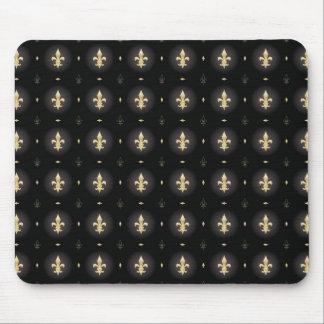 Black & Gold Fleur De Lis mouse pad