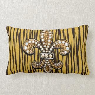 Black Gold Fleur De Lis Pillow