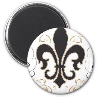 black_gold Fleur Magnet