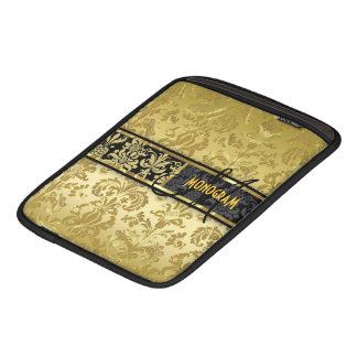Black & Gold Floral Damasks Customized iPad Sleeve