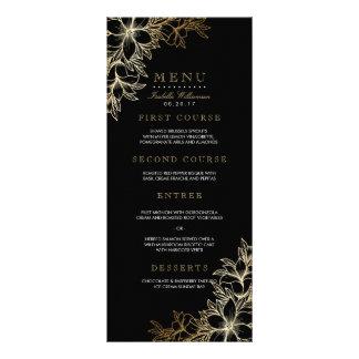 Black & Gold Floral Engagement Party Menu