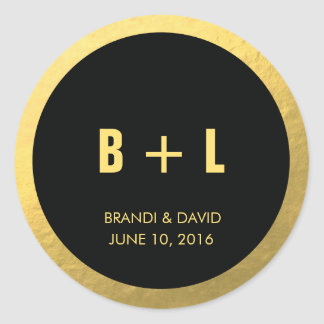Black + Gold Foil Sticker | WEDDINGS