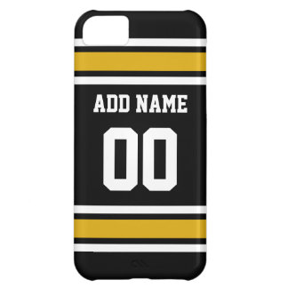 Black Gold Football Jersey Custom Name Number iPhone 5C Case