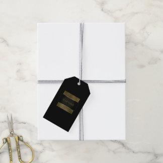 Black Gold Frame Boutique Minimal Branding Name Gift Tags