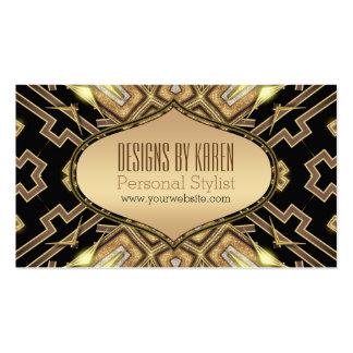Black Gold Gatsby Goddess Stylist Business Cards
