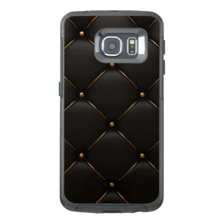 Black & Gold Geometric Pattern OtterBox Samsung Galaxy S6 Edge Case