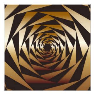 Black &Gold Geometric Pattern Print Design