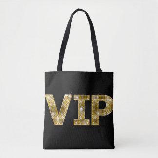 Black & Gold Glitter VIP Tote Bag